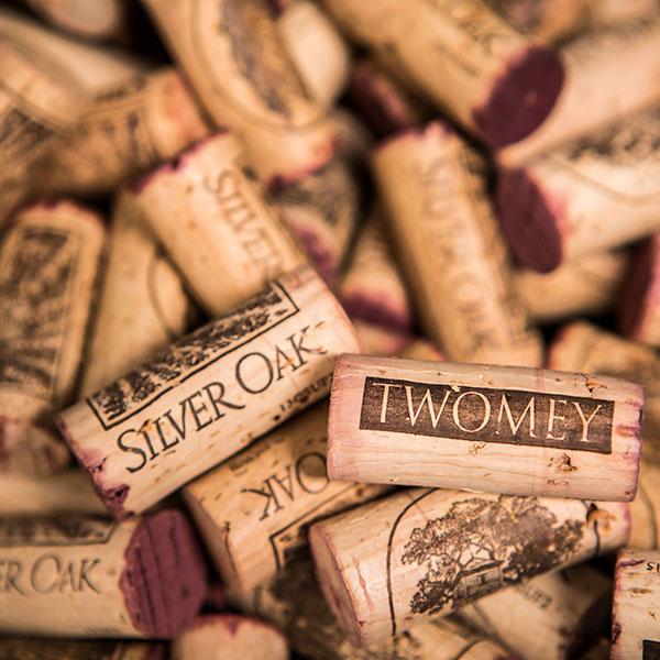 Silver Oak and Twomey corks