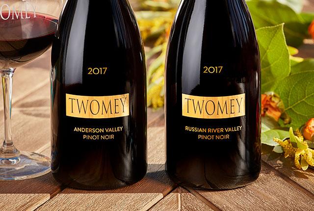 Twomey wine bottles use 24k gold
