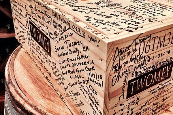 Twomey signed wood box